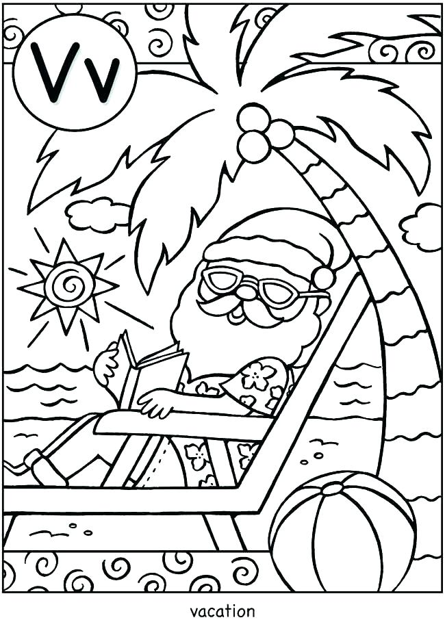 650x906 Vacation Coloring Pages Holiday Color Pages Winter Holiday