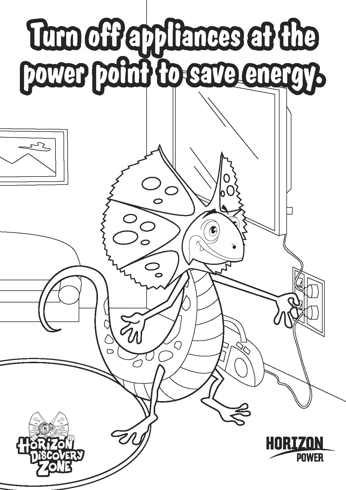 Vacuum Cleaner Coloring Page