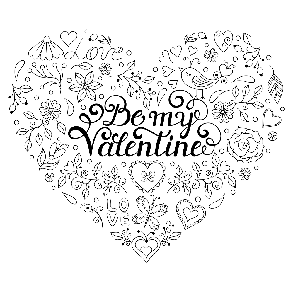 1000x1000 Valentines Day Coloring Pages Page Of Got Coloring Pages