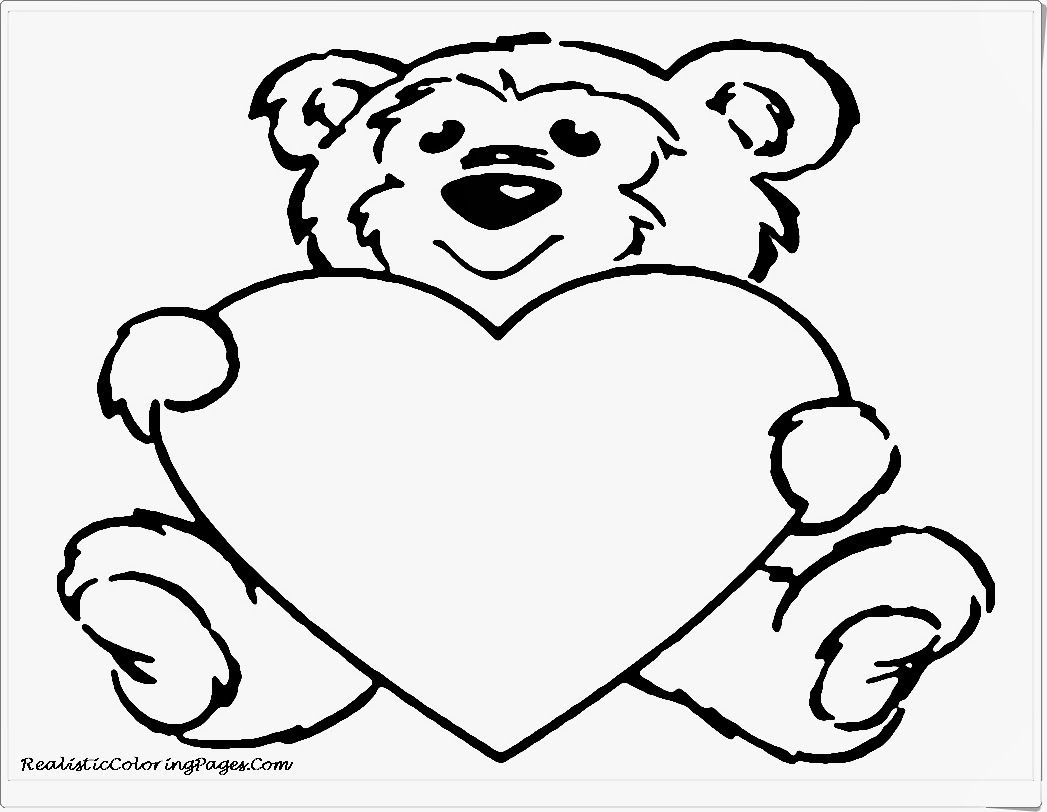 1047x812 Cute Bear Valentine Animals Coloring Pages Valentines Coloring