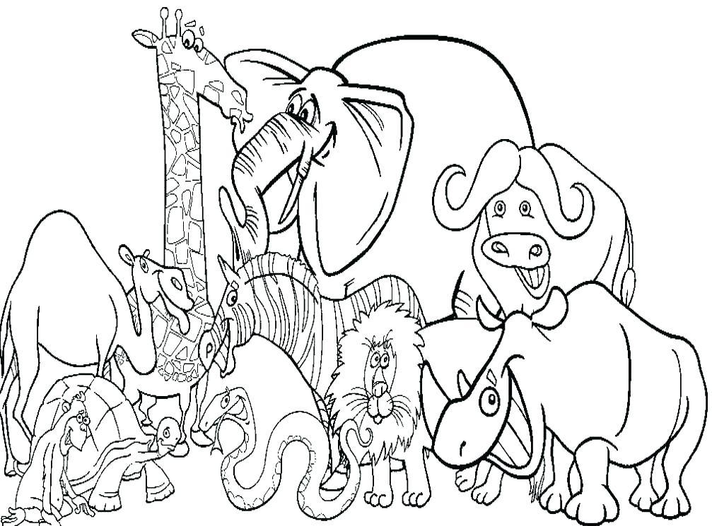 1007x745 Free Printable Farm Animal Coloring Pages Barnyard Animals