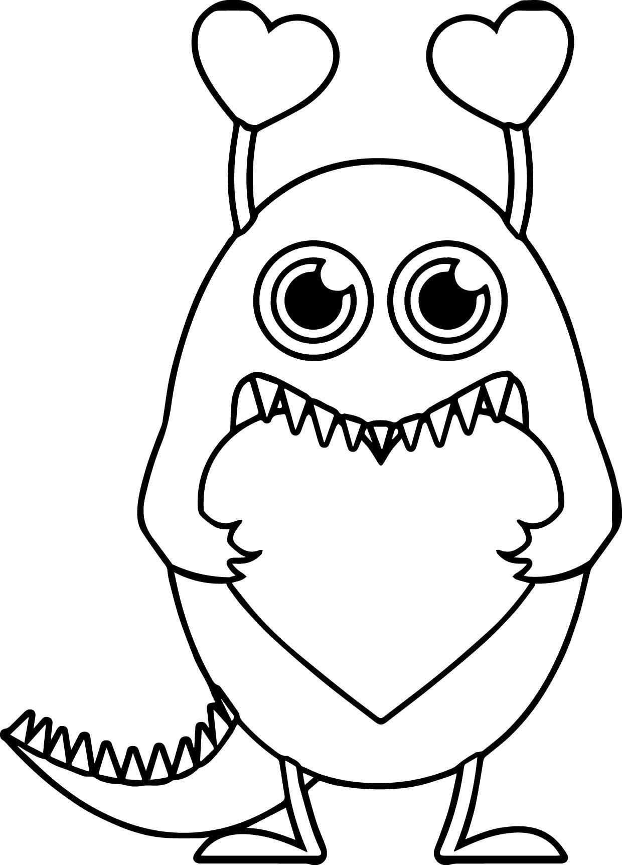 1240x1724 Stunning Monster Valentine Heart Coloring Page Wecoloringpage