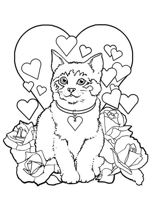 500x651 Valentine's Day Coloring Pages For Adults To This Page To Print
