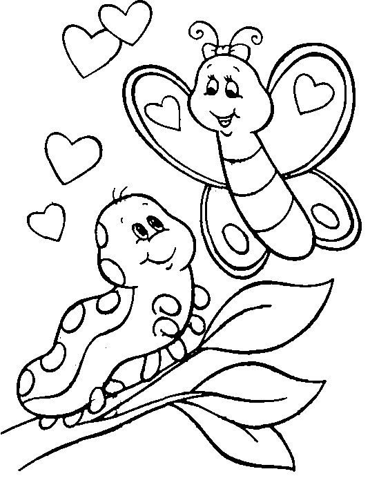 536x705 Caterpillar Round Coloring Page
