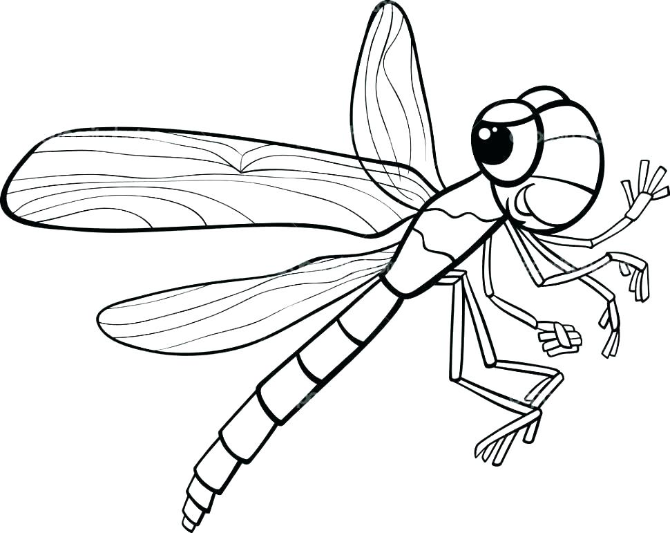970x771 Coloring Pages Valentines Day Disney Dragonfly Page Simple Animal
