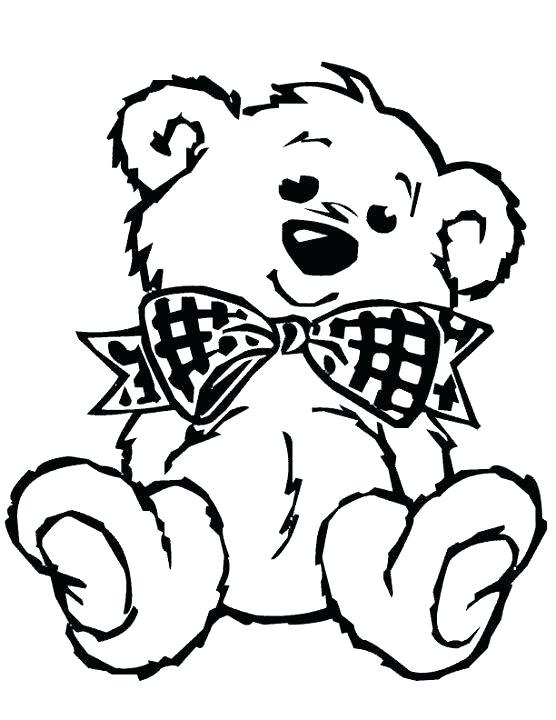 556x720 Teddy Bear Color Page Best Bear Coloring Pages Ideas On Teddy Bear