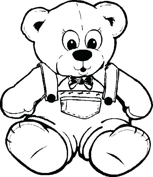 490x567 Teddy Bear Printable Coloring Pages Teddy Bear Color Page Teddy