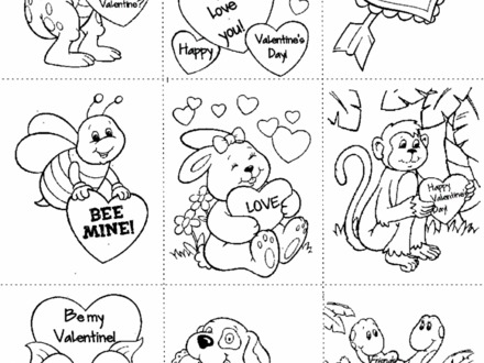 440x330 Printable Valentine Coloring Pages Free, Free Printable
