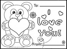 Valentine Card Coloring Pages at GetDrawings.com | Free for personal ...