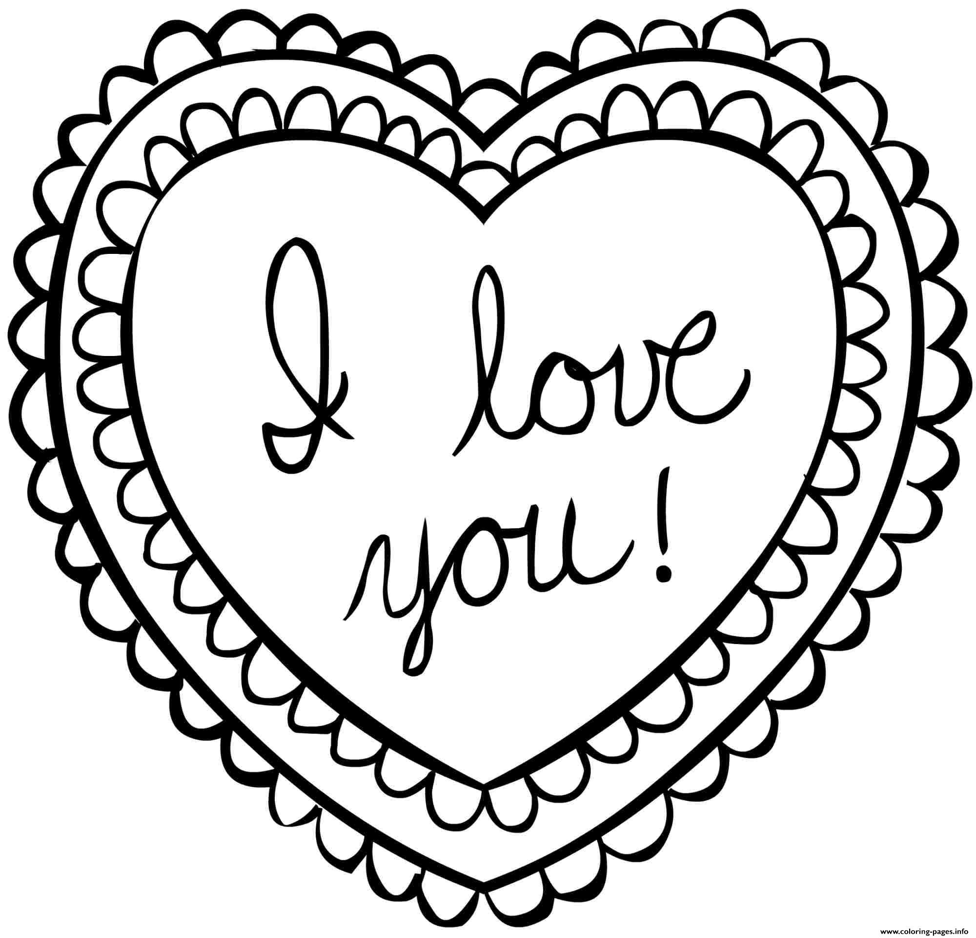 Valentine Card Coloring Pages at GetDrawings.com   Free for personal ...
