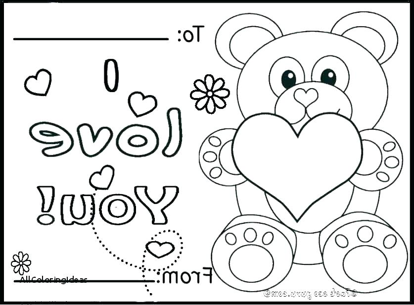837x616 Printable Coloring Pages For Valentines Day Valentines Printable