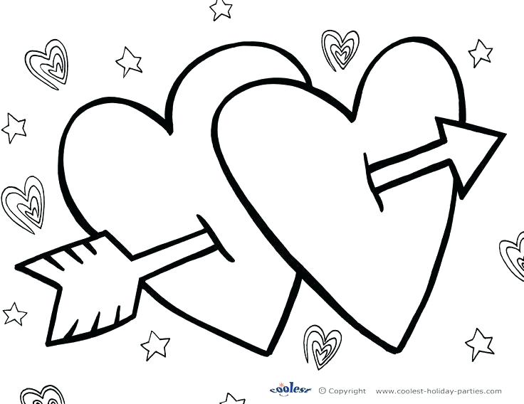 736x568 Valentine Card Coloring Pages Printable Coloring Valentines Day