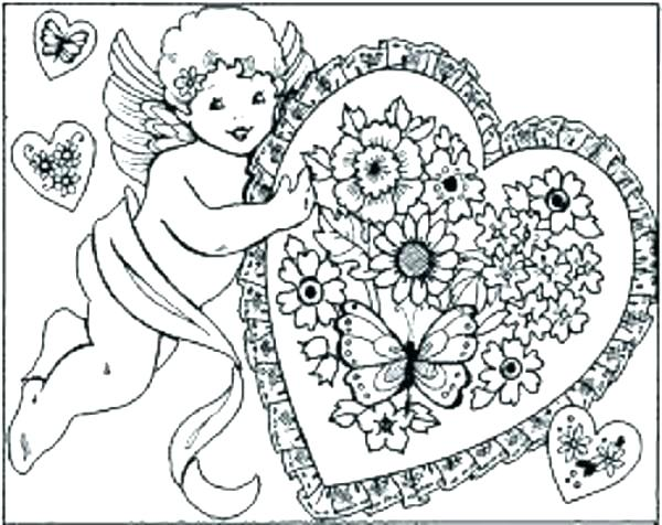 600x476 Valentine Card Coloring Pages