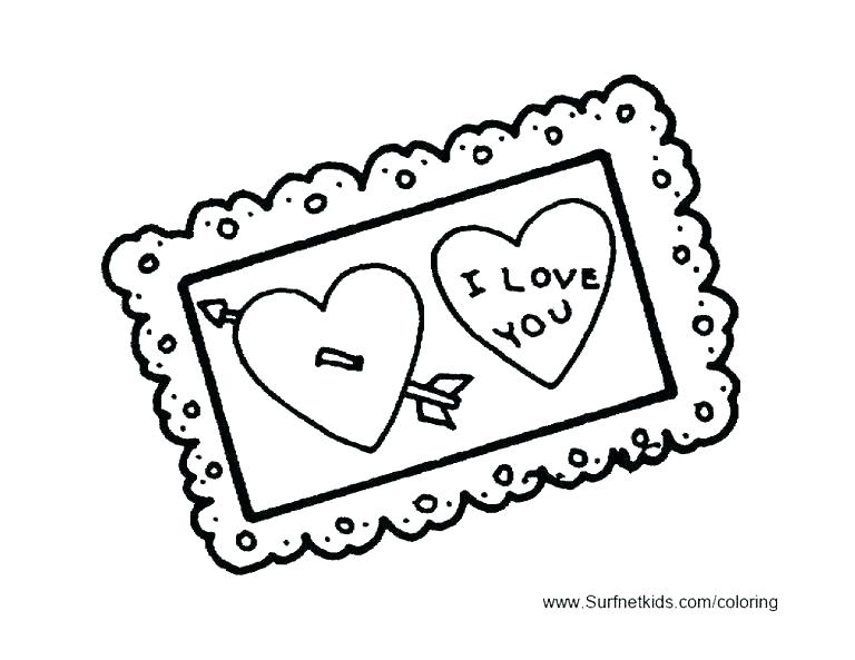 768x593 Valentine Coloring Cards Best Collection Coloring Pages Printable