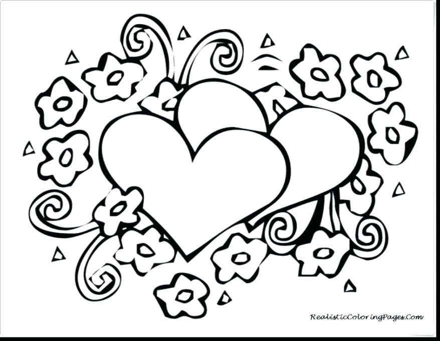 878x681 Valentine Coloring Cards Printable Valentines Coloring Pages