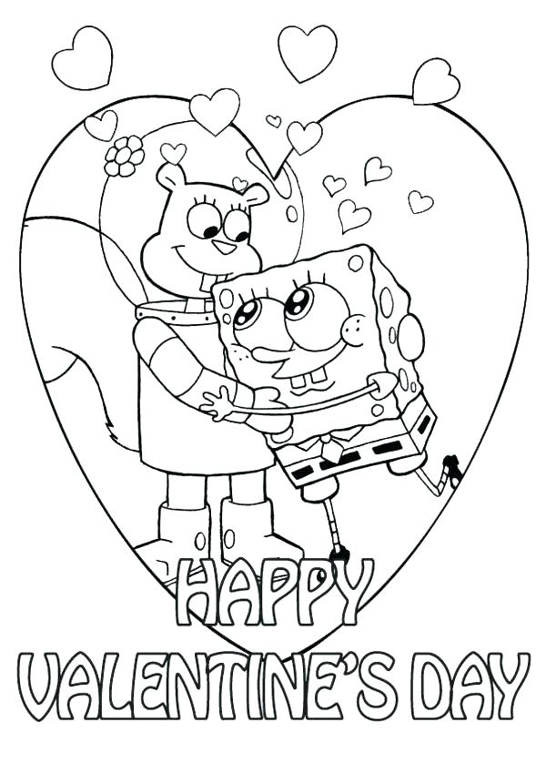 600x849 Valentine Coloring Cards Printable Valentines Day Colouring Cards