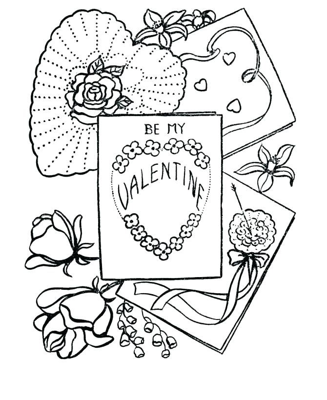 670x820 Valentine Card Coloring Pages