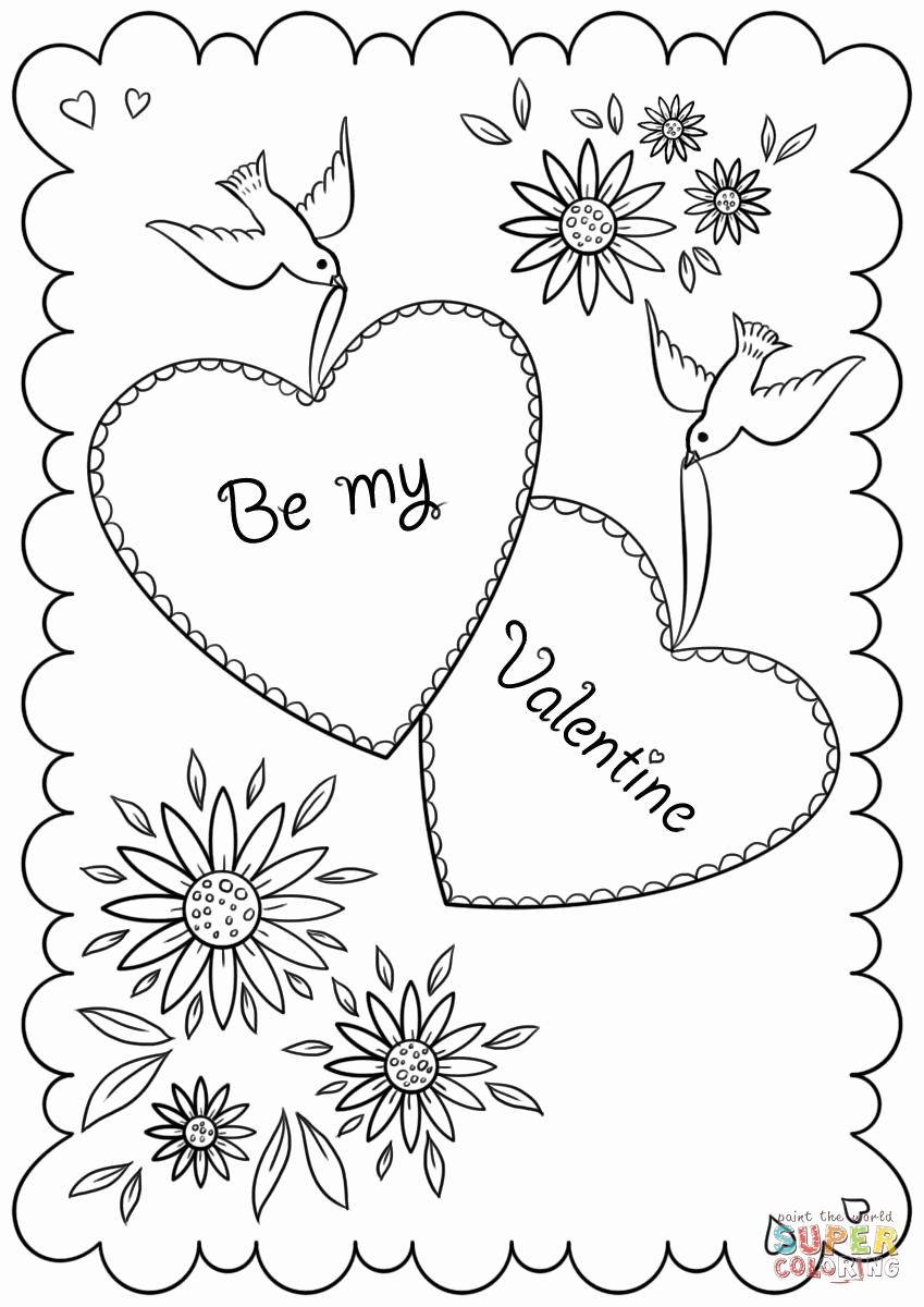 849x1200 Coloring Pages St Valentine Collection Free Coloring Pages