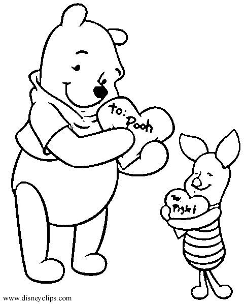 483x598 Free Disney Valentine Coloring Pages Disney Valentines Day