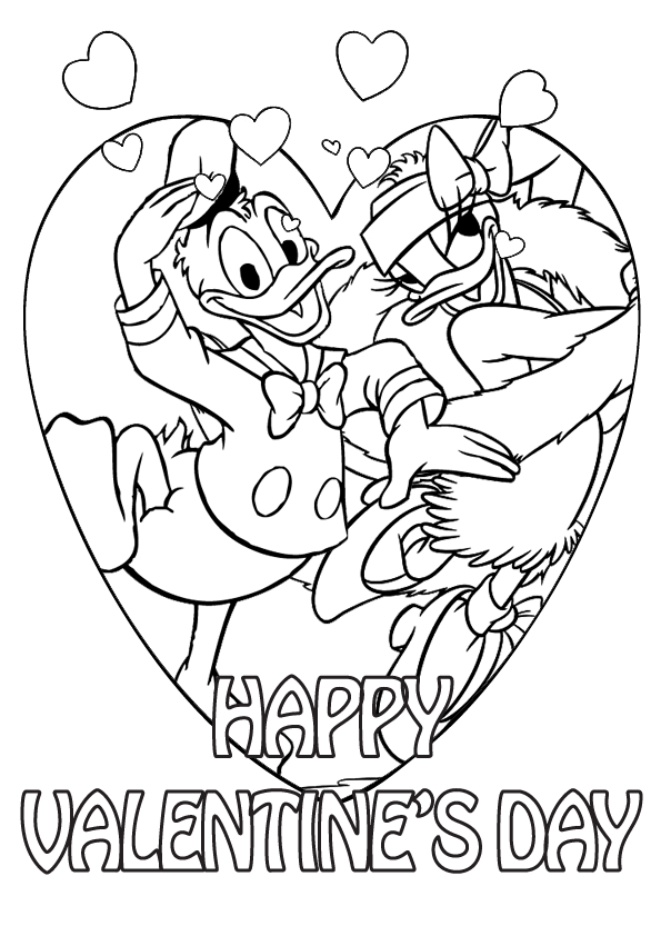 595x842 Disney Valentines Day Coloring Pages Valentine With Remodel