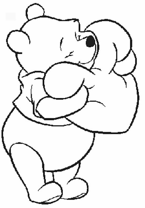 550x790 Pooh Disney Valentine Coloring Pages