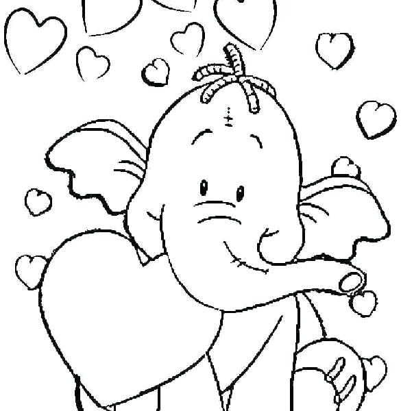 585x600 Coloring Page For Toddlers