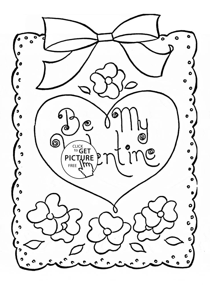 Valentine Coloring Pages For Toddlers