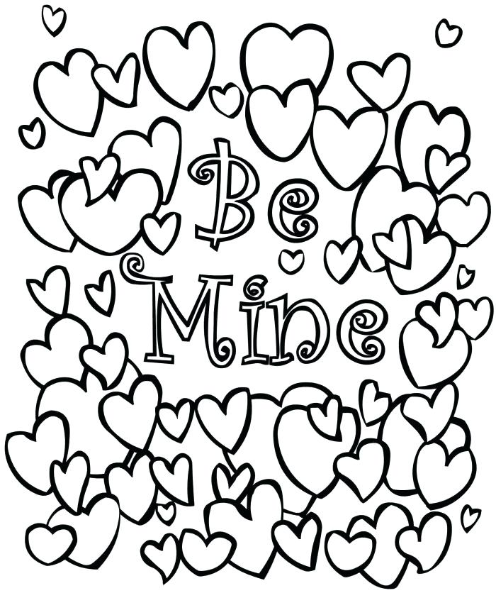 700x836 Valentine Coloring Pages Coloring Page Valentine Valentine