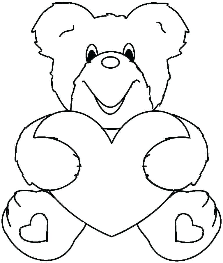 Valentine Coloring Pages To Print For Free At Getdrawings Free