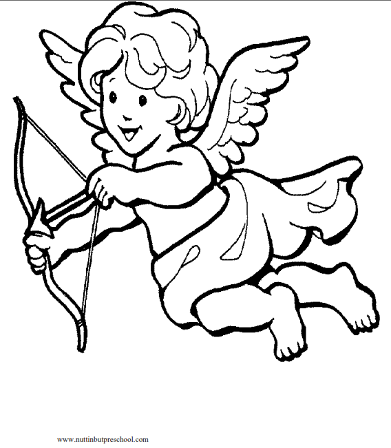 568x651 Cupid Coloring Page Nuttin' But Preschool
