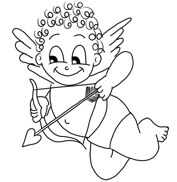 594x611 Cupid Coloring Page Coloring Book