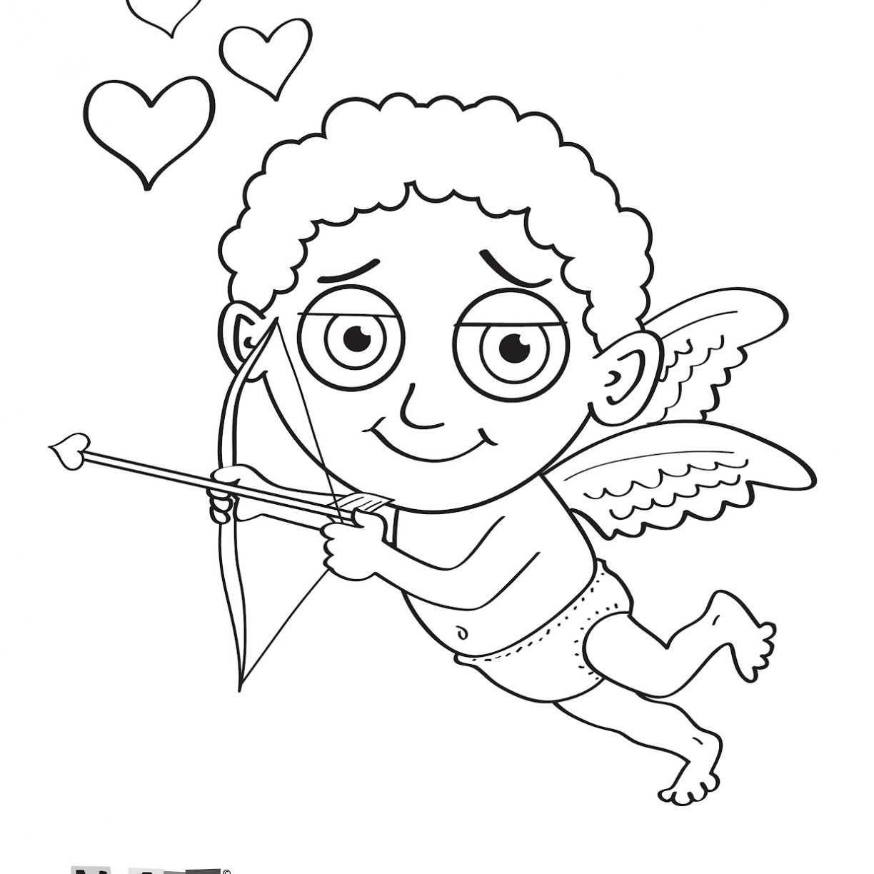 1224x1224 Cupid Coloring Pages