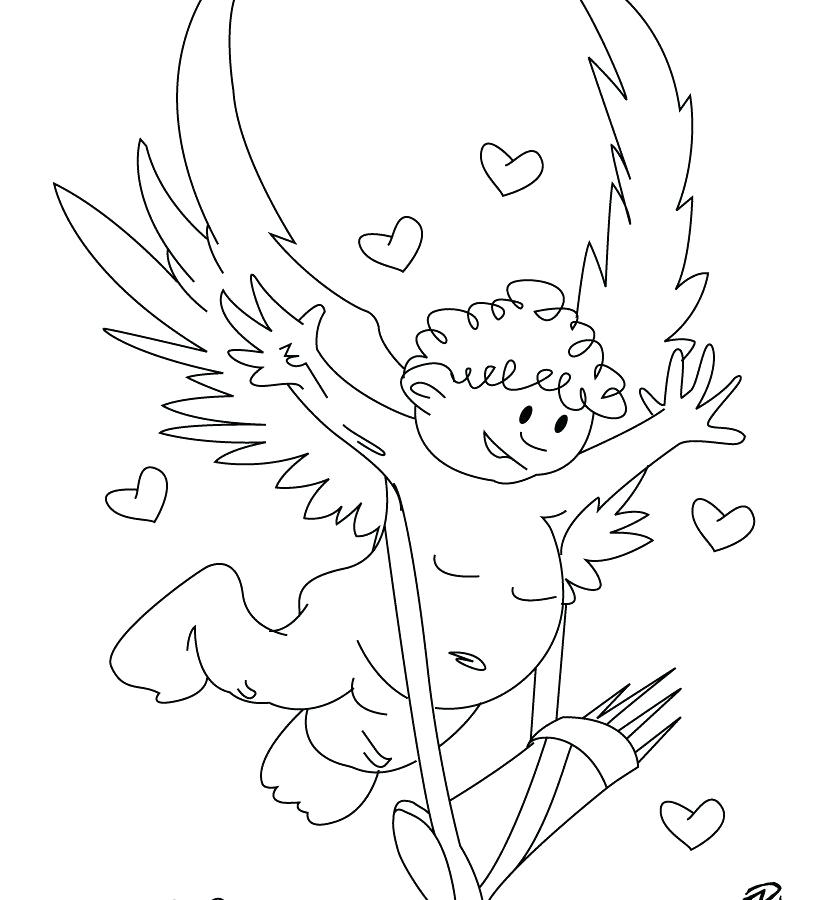 820x900 Cupid Coloring Sheets Creative Ideas Cupid Coloring Pages Cute