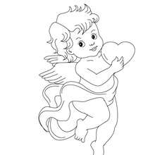 220x220 Cupid Coloring Pages