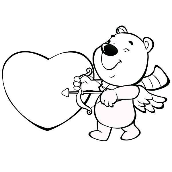 600x600 This Cute Little Bear Is Acting As Cupid For Valentine's Day
