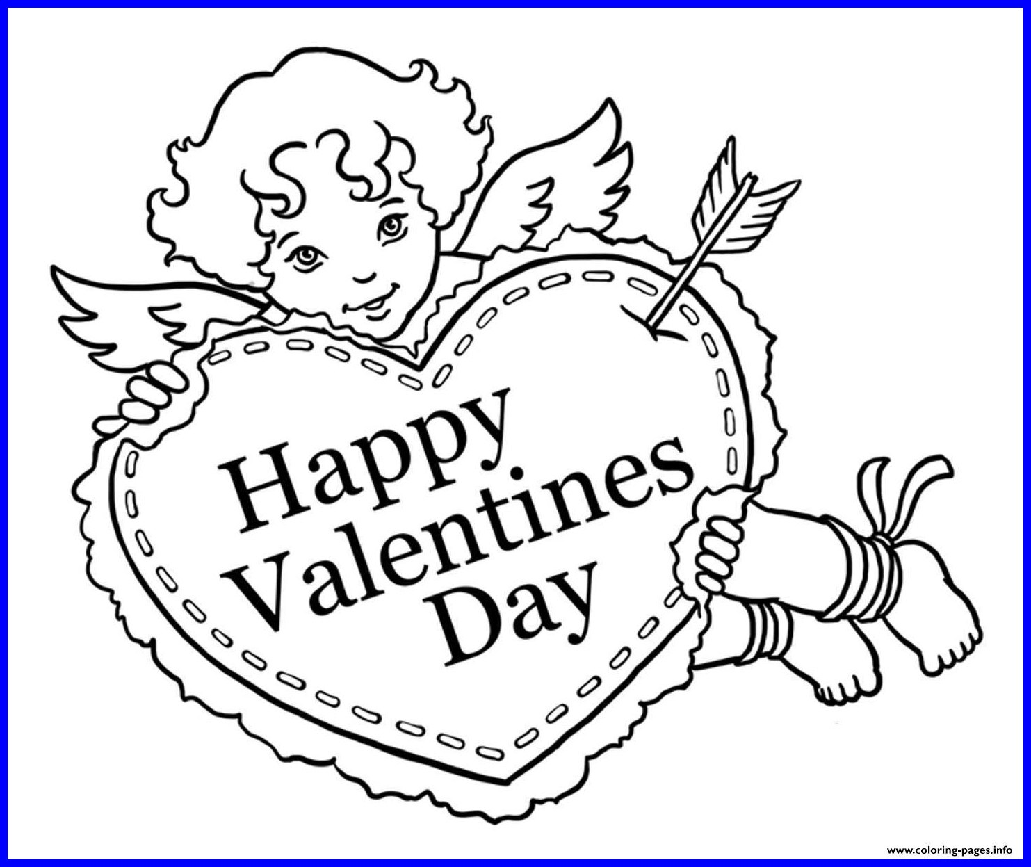 1483x1247 Amazing Day Cupid Coloring Page Printable For Kids Pic