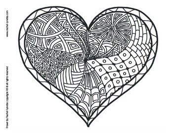 350x270 Heart Coloring Pages For Valentine's Day!