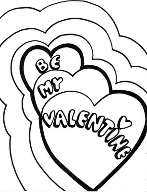 612x800 Be My Valentine Heart Coloring Pages Coloring Pages