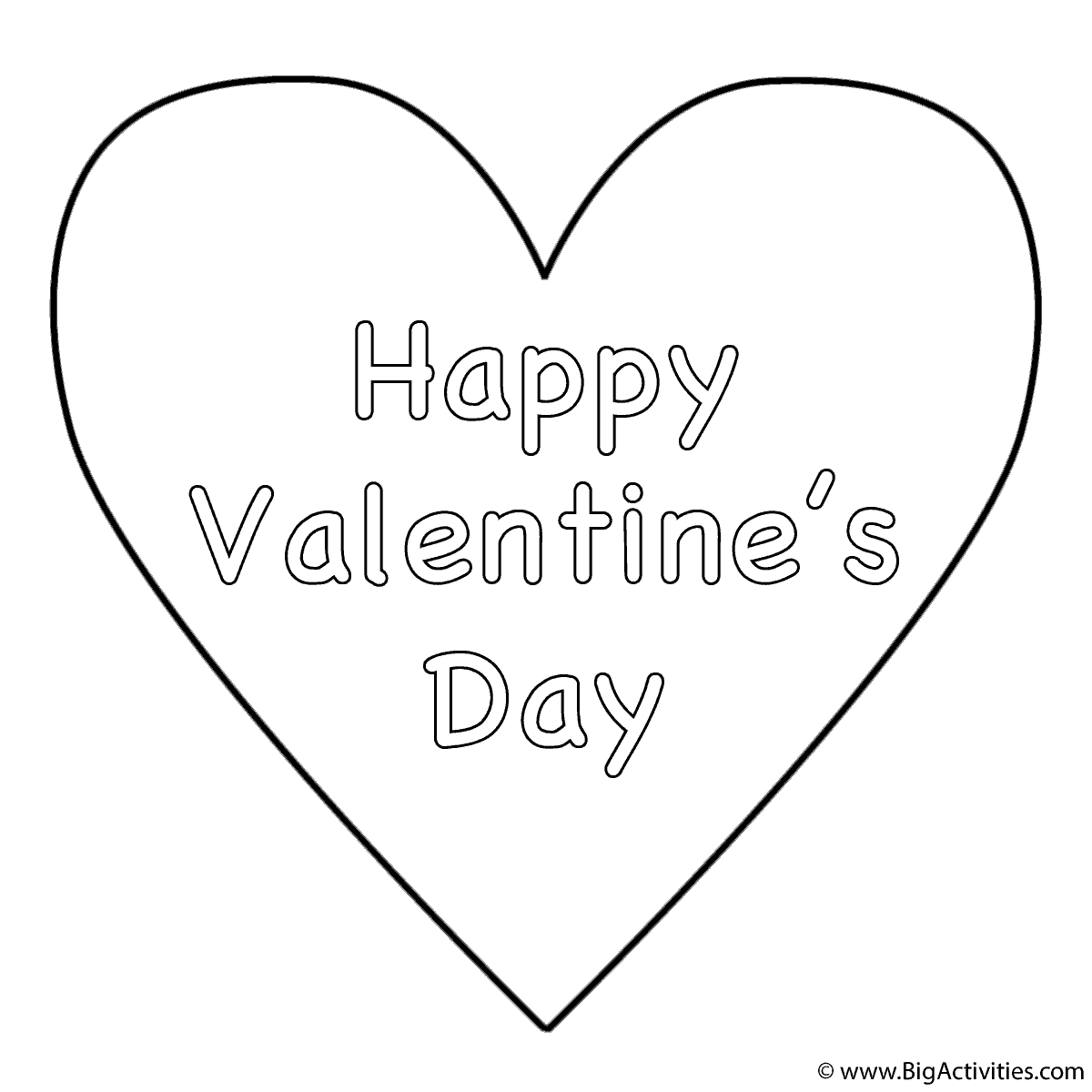 1200x1200 Valentine Heart Coloring Pages