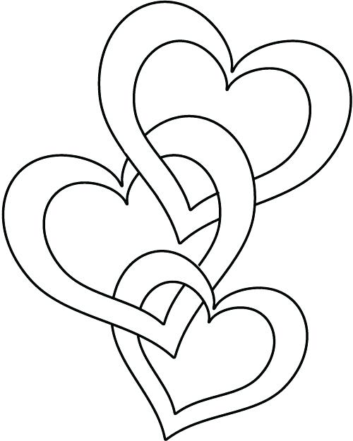 500x625 Valentine Heart Coloring Pages Valentine Heart Coloring Pages
