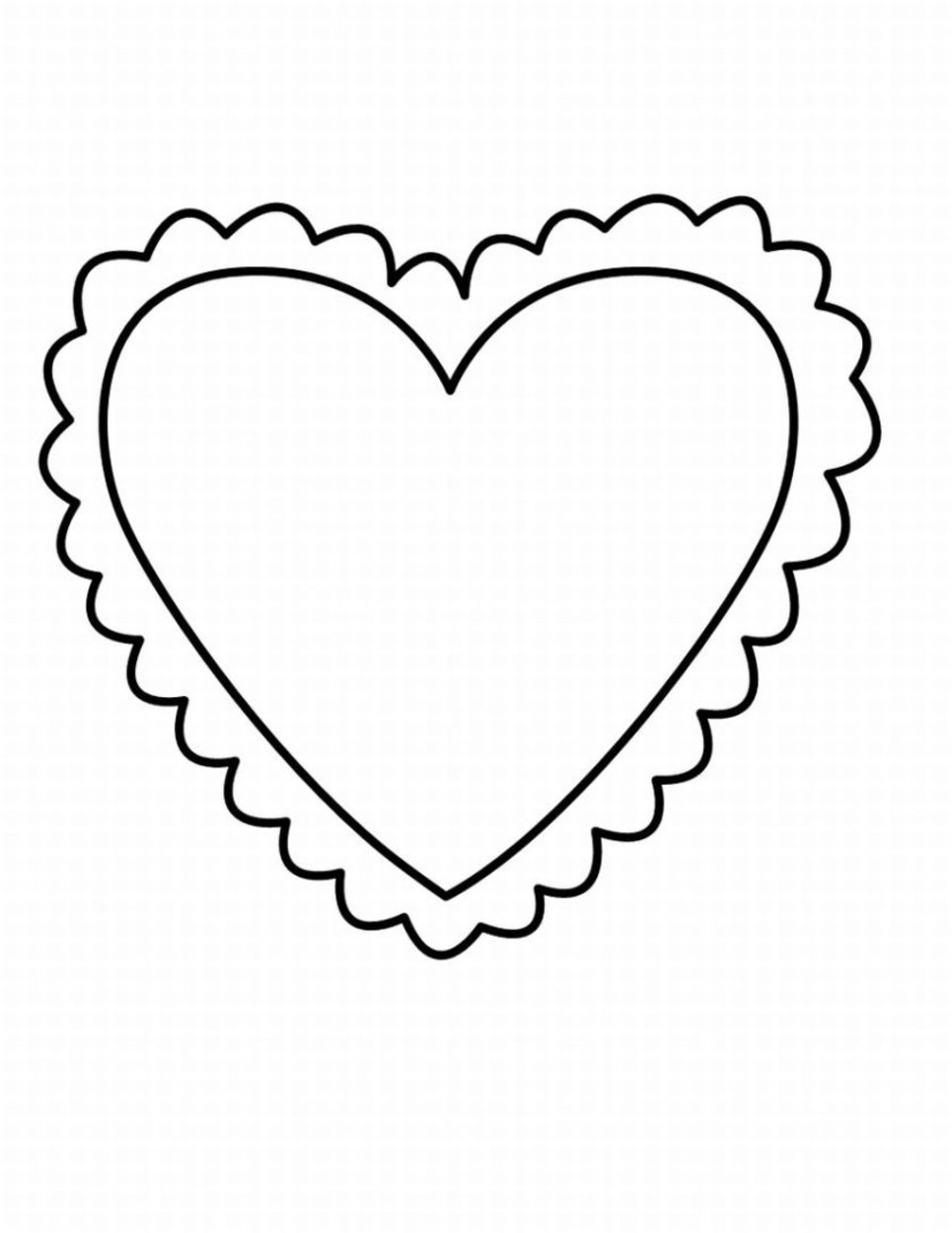 965x1249 Valentines Heart Coloring Pages Acpra