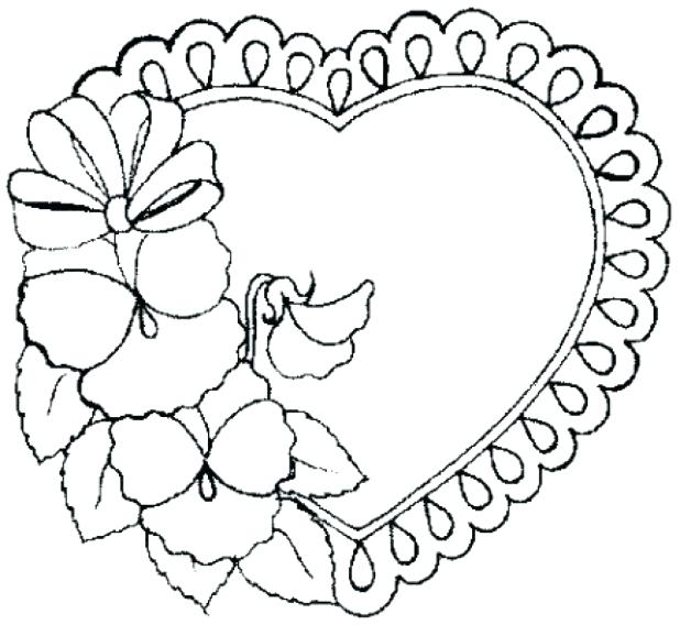 618x568 Valentines Hearts Coloring Pages Valentine Coloring Page Heart