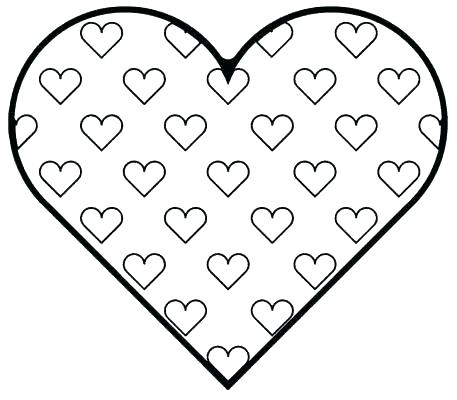 457x400 Heart Coloring Page