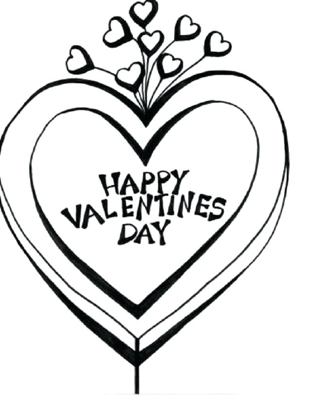 637x813 Valentines Day Heart Coloring Pages
