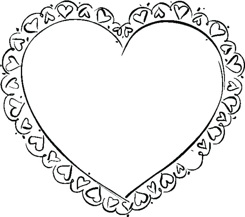 820x724 Coloring Pages Of Valentines Day Hearts Printable Valentines