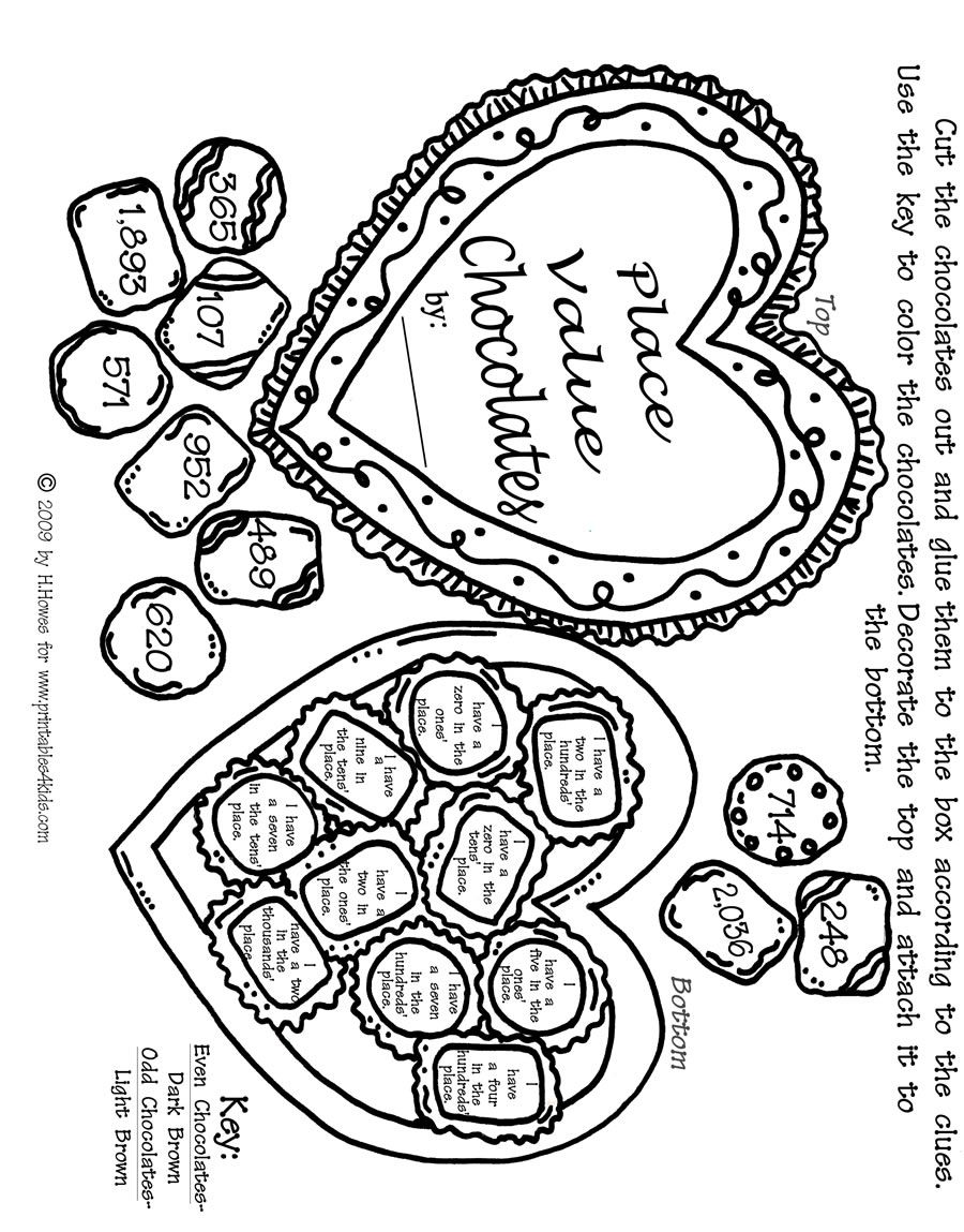 900x1149 Valentine Math Place Values Activity Sheet Printables For Kids