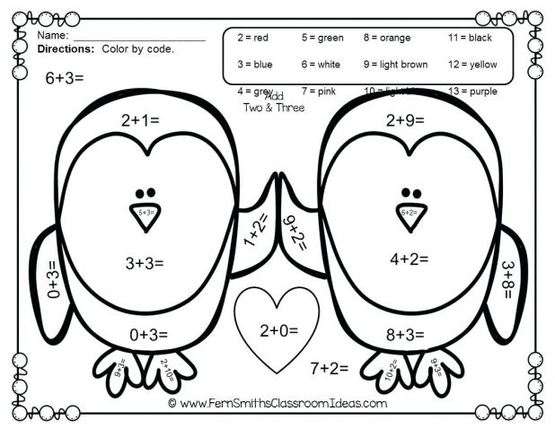 618x478 Valentine Math Sheets Worksheets For All Download And Share