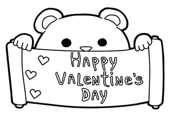 600x423 Valentines Day Coloring Pages Free For Valentines Day Valentine