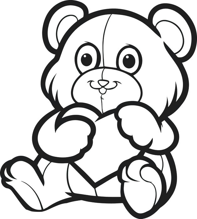 629x700 Free Printable Coloring Pages For Valentines Day Teddy Bear
