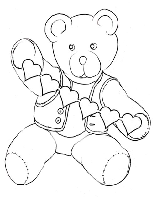 501x648 Free Printable Teddy Bear Coloring Pages